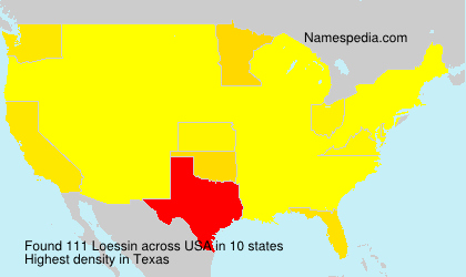 Surname Loessin in USA