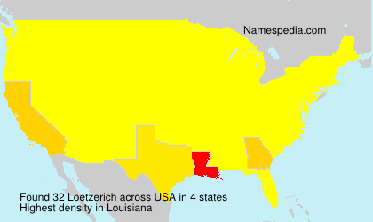 Surname Loetzerich in USA