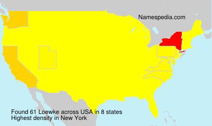 Surname Loewke in USA