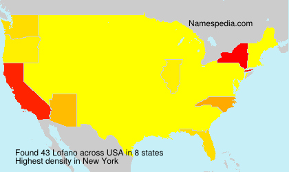 Surname Lofano in USA