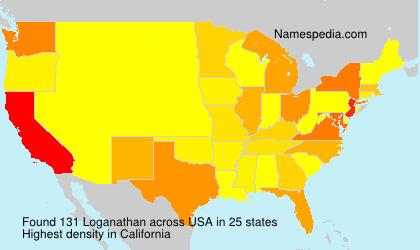 Surname Loganathan in USA