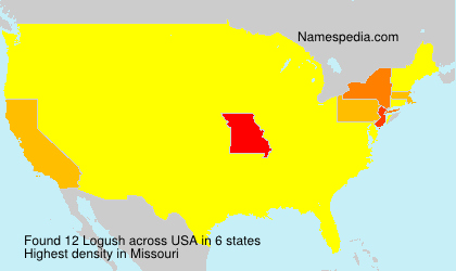 Surname Logush in USA