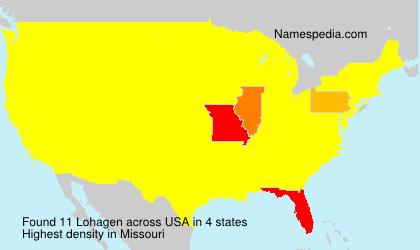 Familiennamen Lohagen - USA