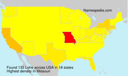 Surname Lohe in USA