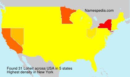 Surname Loheit in USA