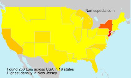 Surname Loia in USA