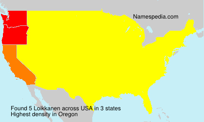 Surname Loikkanen in USA
