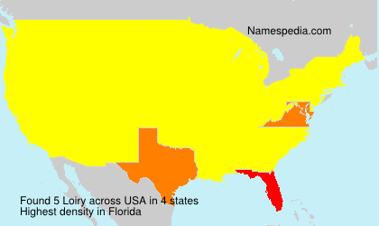 Surname Loiry in USA