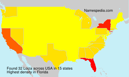 Surname Loiza in USA