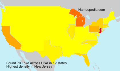 Surname Loka in USA
