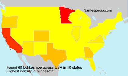 Surname Lokkesmoe in USA