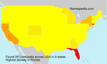 Surname Lombardia in USA