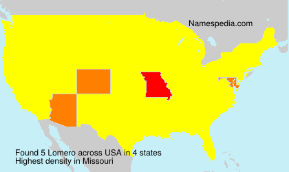 Surname Lomero in USA