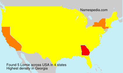 Surname Lomie in USA