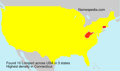 Surname Lompert in USA