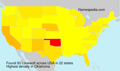 Surname Lonewolf in USA