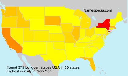 Surname Longden in USA