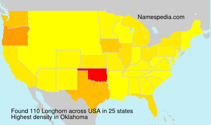 Surname Longhorn in USA