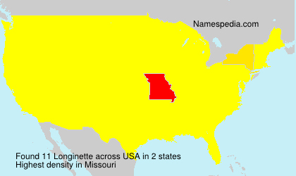 Surname Longinette in USA