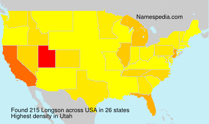 Surname Longson in USA