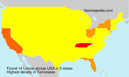 Surname Lonow in USA