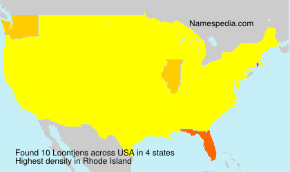 Surname Loontjens in USA