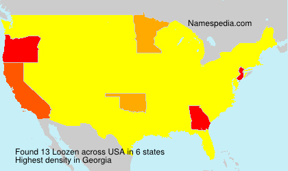 Surname Loozen in USA