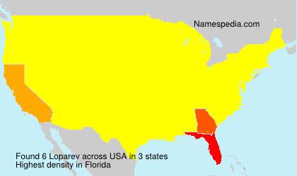 Surname Loparev in USA