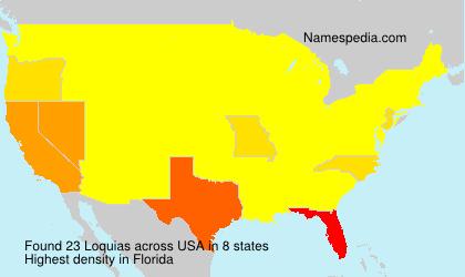 Familiennamen Loquias - USA