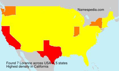 Surname Loranne in USA