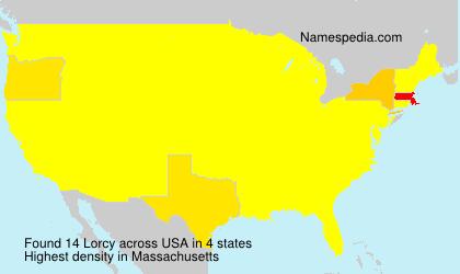 Familiennamen Lorcy - USA