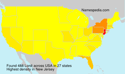 Surname Lordi in USA