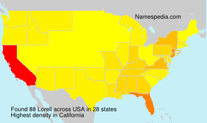 Surname Lorell in USA