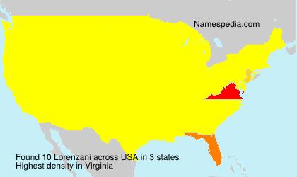 Familiennamen Lorenzani - USA