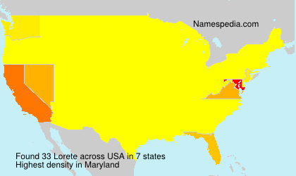 Surname Lorete in USA