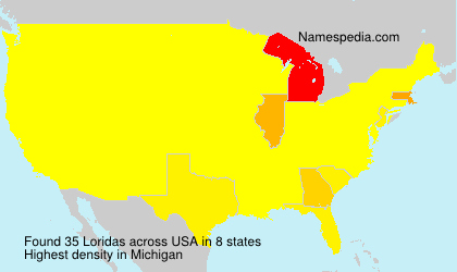 Surname Loridas in USA