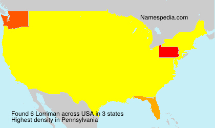 Surname Lorriman in USA