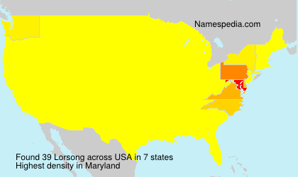 Surname Lorsong in USA