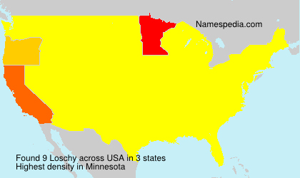 Surname Loschy in USA