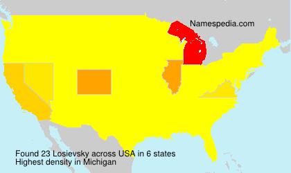 Familiennamen Losievsky - USA