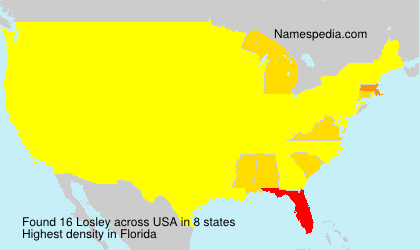 Surname Losley in USA