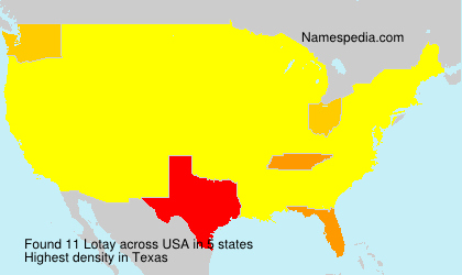 Surname Lotay in USA