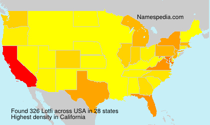 Surname Lotfi in USA