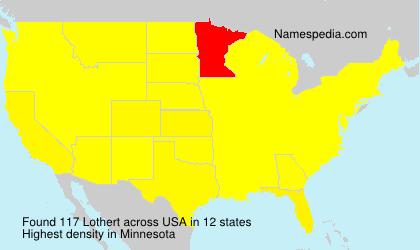 Familiennamen Lothert - USA