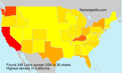 Surname Lotze in USA