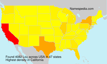 Familiennamen Lou - USA