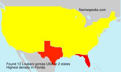 Surname Loubani in USA