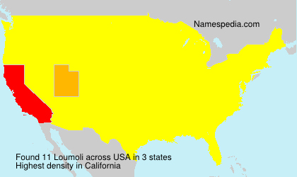 Surname Loumoli in USA