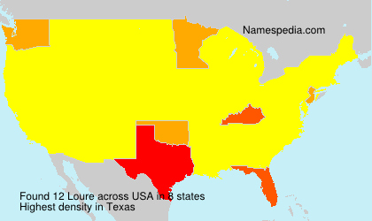 Surname Loure in USA