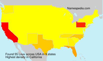 Familiennamen Louv - USA